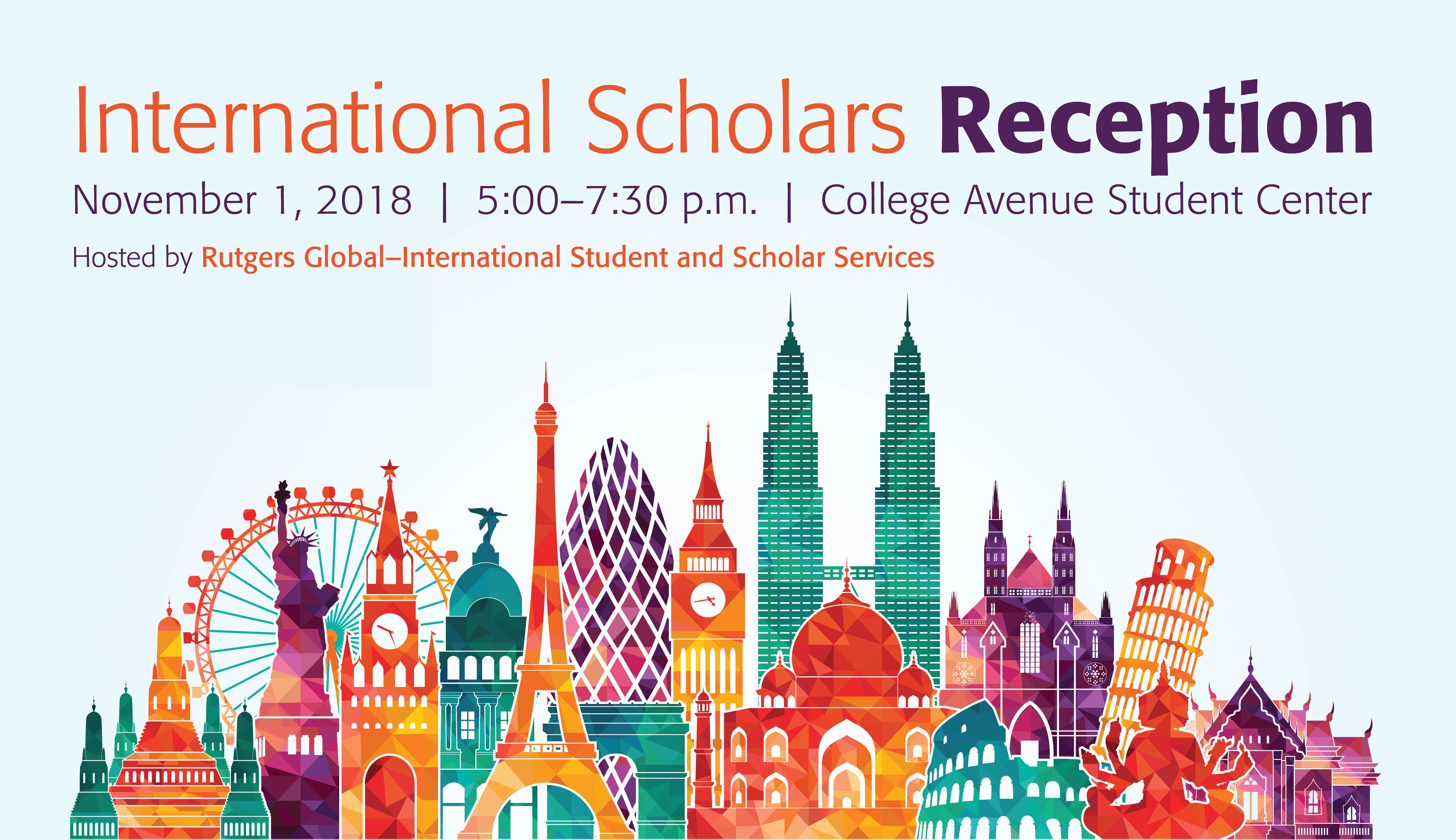 Rutgers Global - International Scholars Reception 2018
