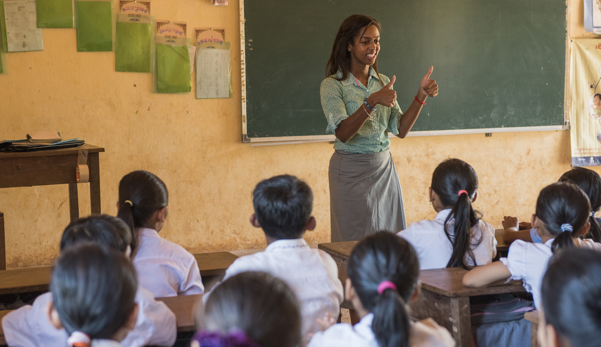 Rutgers Global - Peace Corps volunteer teaching children