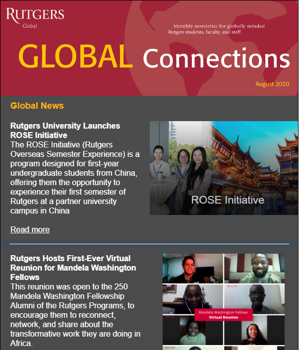 August 2020 Global Connections Newsletter