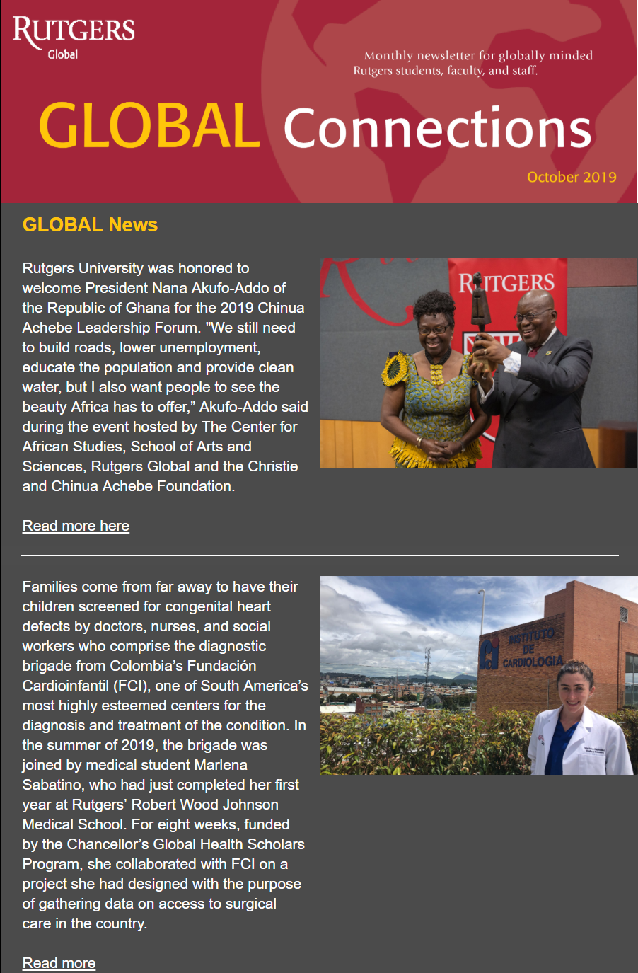 Thumbnail of October 2019 Global Connections Newsletter