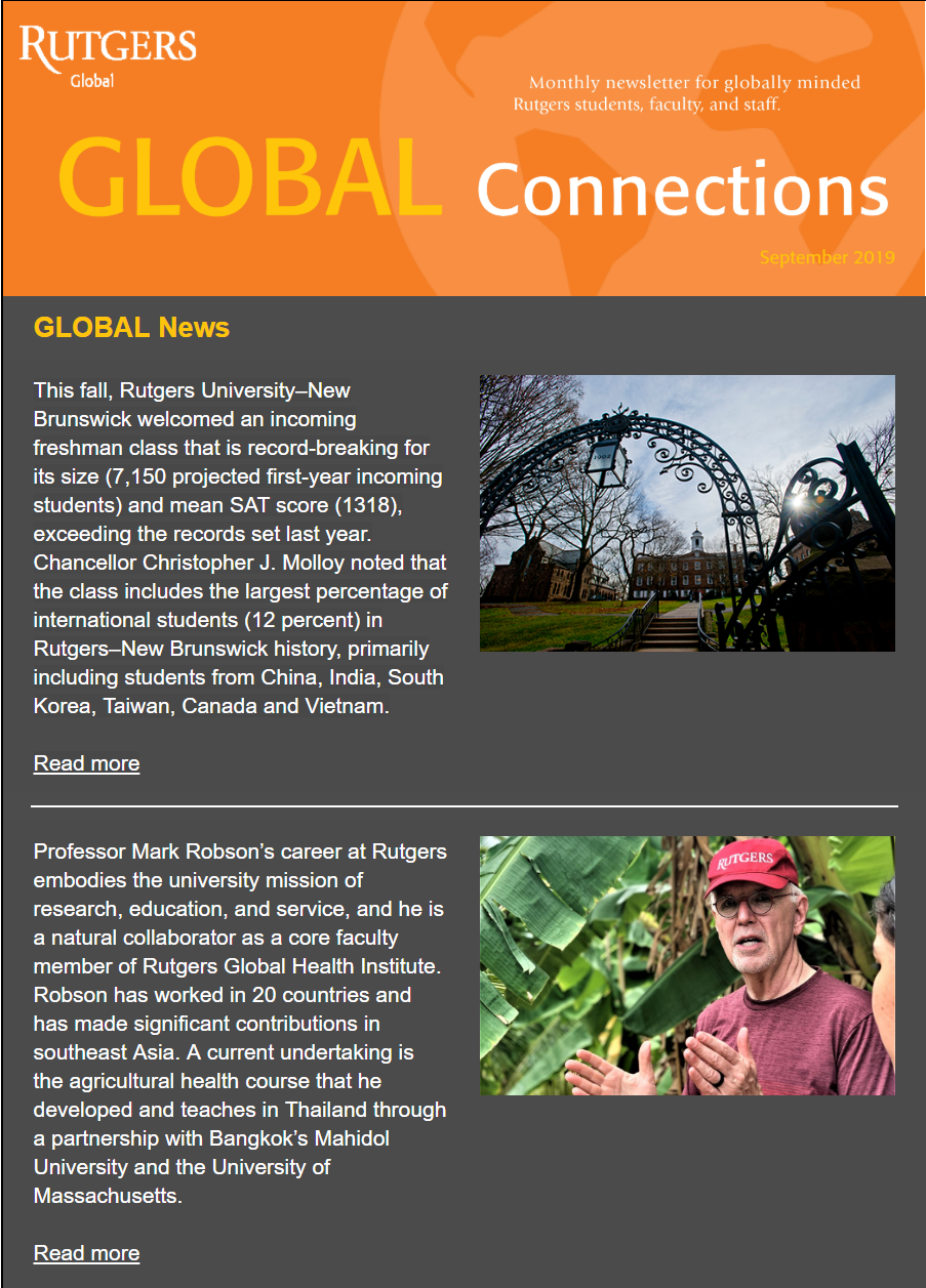 Thumbnail of September 2019 Issue of Global Connections Newsletter