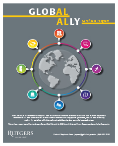 Rutgers Global - Global Ally Certificate Program Flyer