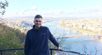 Kyle is at a viewpoint overlooking Paris
