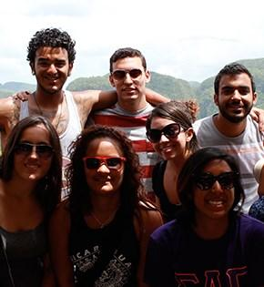 Rutgers Global – Get Social, students gather for photo on study abroad program
