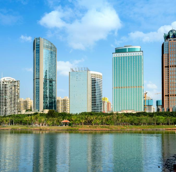 Cityscape in Hainan Province, China