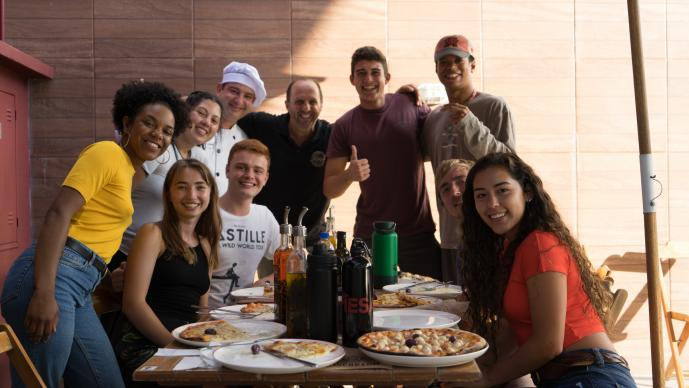 Group lunch in Florianopolis