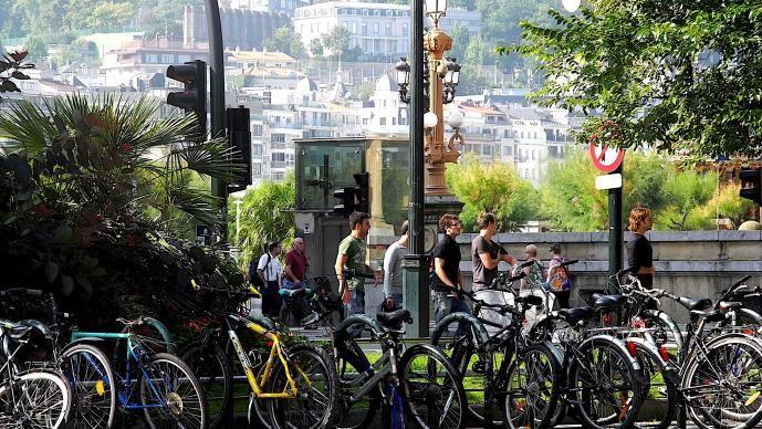 Bikes in San Sebastian