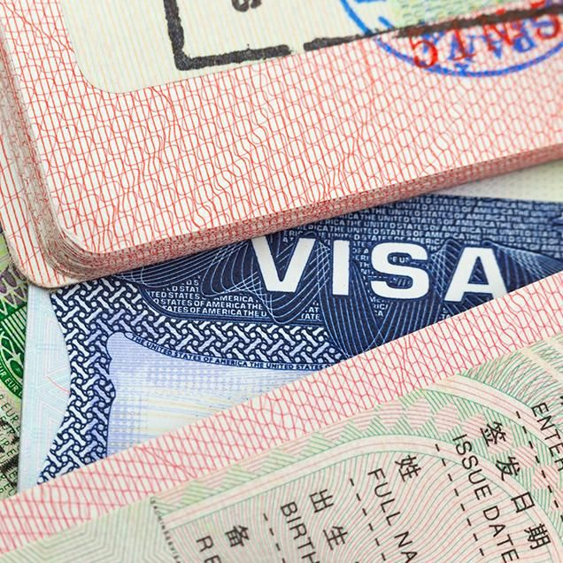Rutgers Global - Green Card, assortment of visa paperwork
