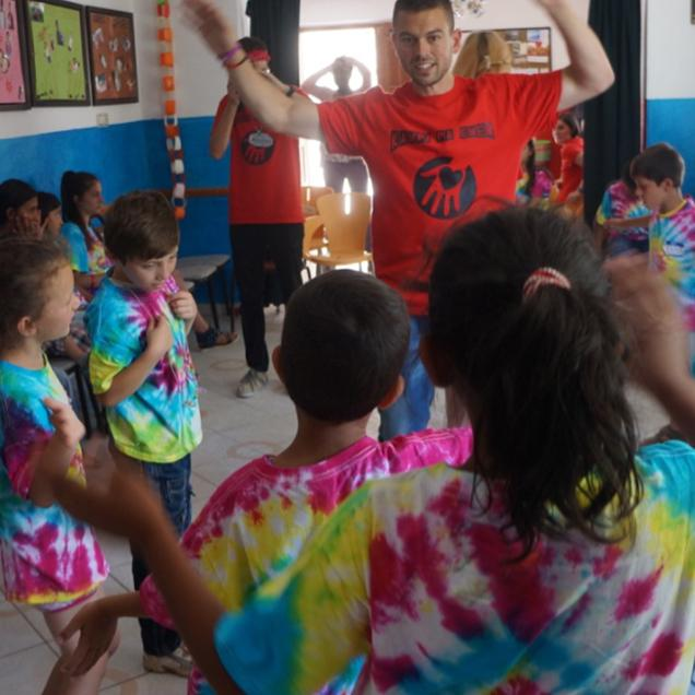 Rutgers Global – Peace Corps Experiences, recruiter Jon Breen in Albania working in a youth center