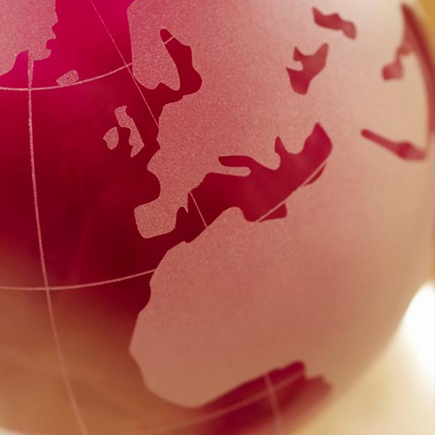 Rutgers Global – International Funding Opportunities, pink glass globe