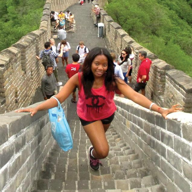 Rutgers Global – Rutgers China Office Study Abroad Scholarship, study abroad student posts on the Great Wall of China