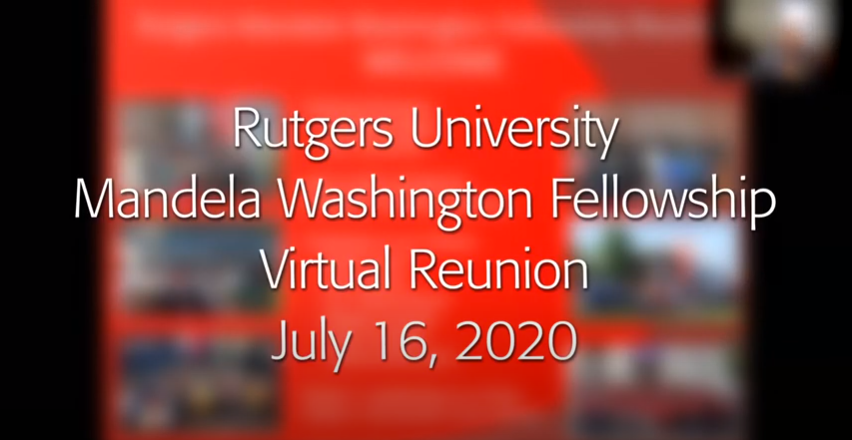 Rutgers Mandela Washington Fellowship Virtual Reunion 2020